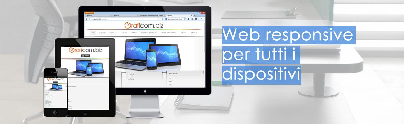 Siti web responsive per tutti i dispositivi